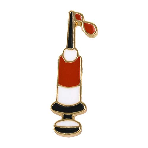 Lv Brooch - Game Enamel Knife Balloon Custom Brooches Bag Clothes Pin Gift Friends - Syringe