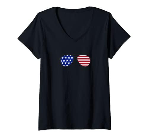 Mujer Joe Biden President Elect Aviator Gafas De Sol Hombres Mujeres Niños Camiseta Cuello V