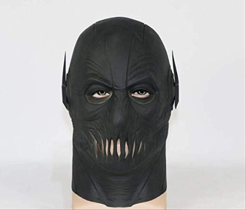 tytlmask Party Zwart Masker, Fullhead Ademend Latex Masker, Zoom Tv Flash Masker Voor Halloween Cosplay Flash Kostuum Prop