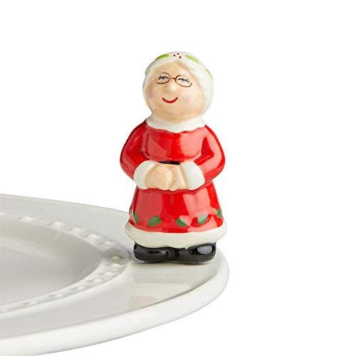 Nora Fleming Hand-Painted Mini: Mrs. Claus A40