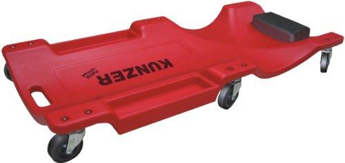 KUNZER (WK 3040) Montage-Rollbrett bis 130kg Traglast – Werkstatt-Liegewagen mit Kopfstützen-Polster – 6-rollige Liege