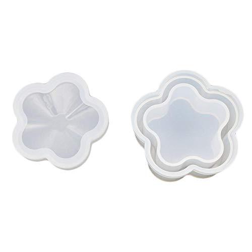 Copa Multi-Standard Mat Moldes Transparentes handsomely Irregular Arte de DIY Coaster de Molde Miyaer La Resina de Silicona Coaster Moldes