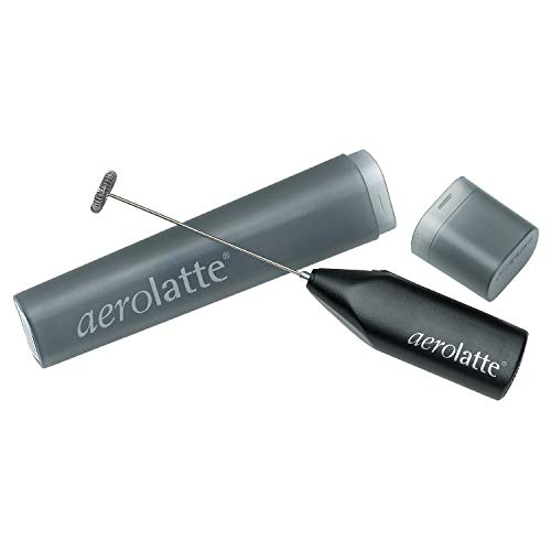 aerolatte Milk Frother with Storage Tube, Black, Stainless Steel