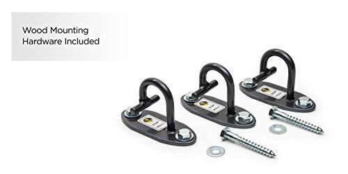 Anchor Gym Set of 3 Mini H1 Workout Wall Mount Anchors. Designed for Body Weight Straps, Resistance Bands, Strength Training, Yoga, Home Gym, Physical Therapy Exercise and Stretching