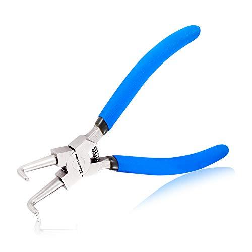SPEEDWOX Alicates de anillo de presión interno 90 grados pinza de retención de mandíbula curvada alicates de clip C alicates de precisión para mantener una herramienta de extracción de clip sólida