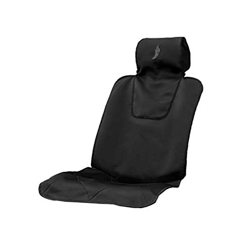 Dry Rub Car Seat Cover for Athletes - Universal Fit, Machine Washable, Sweat Proof, Anti-Sweat Seat Cover for Running, Triathlon, Gym, Swimming and More. 4 Trim Colors to Choose from. (Charcoal)