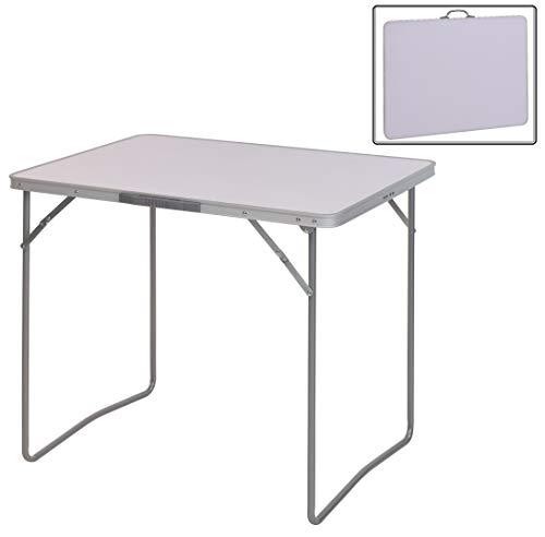 Campingtisch Klapptisch Gartentisch Falttisch klappbar Aluminium 80x60x70cm Weiß X160