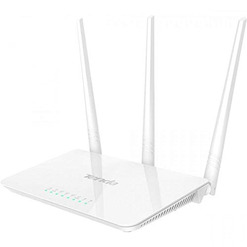 Tenda F3 300Mbps Wireless Router, Easy Setup, Parental Control, Bandwidth Control, Wi-Fi Schedule, with 3 External Antennas -White