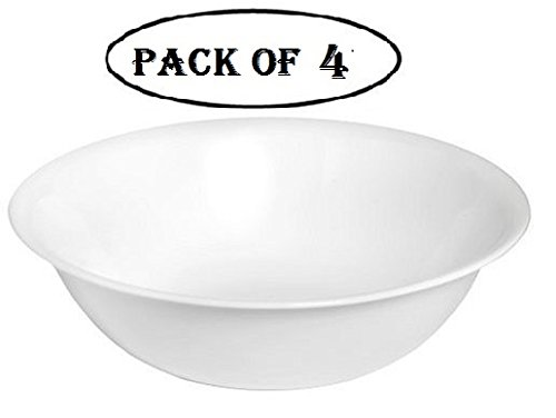 Corelle Livingware 1-quart Serving Bowl, Winter Frost White, Pack of 4
