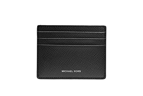 Michael Kors Men's Harrison Tall Credit Card Case Wallet Black