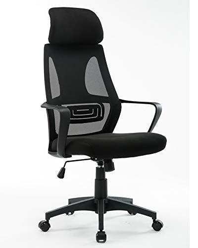 Cadeira Para Escritório Office Telavive Luxo Preta Conforsit 4994