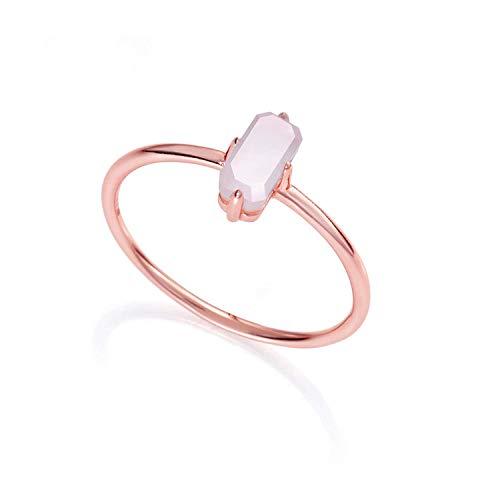 Viceroy Sortija Jewels. Plata IP Oro Rosa. Piedra Rosa.