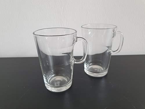 Nespresso 2er Set Mugs Tassen der VIEW Serie Kaffee Tee Kakao Tassen aus Glas