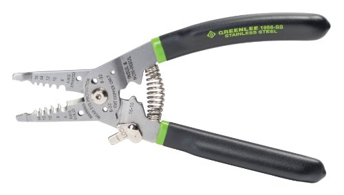 Greenlee Hand Tools Stainless Steel Wire Stripper Pro (1956-SS), 6-14AWG