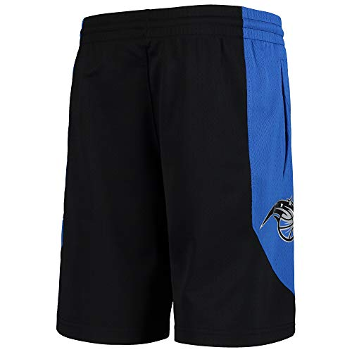 Outerstuff NBA Youth 8-20 Primary Logo Performance Practice Shorts, Jungen, Orlando Magic Schwarz, X-Large