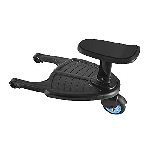 Tablero de paseo universal 2 en 1 para cochecito con asiento desmontable, tablero de buggy con ruedas de tamaño ajustable para la mayoría de los cochecitos, tiene capacidad para niños de hasta 55 libr