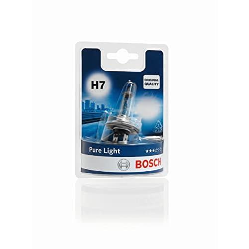 Bosch Lampadina Faro Pure Light, H7 12V 55W PX26d, (Lampadina x1)