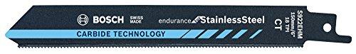 Bosch Professional Säbelsägeblatt S 922 EHM Endurance for Stainless Steel (für Edelstahl, 150 x 19 x 1 mm, Zubehör Säbelsäge)