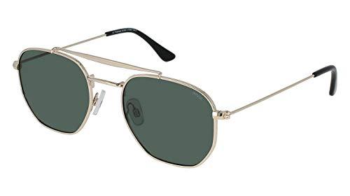 INVU Polaroid - Gafas de sol polarizadas para hombre y mujer, estilo vintage, unisex, estilo retro, B1000A, color dorado