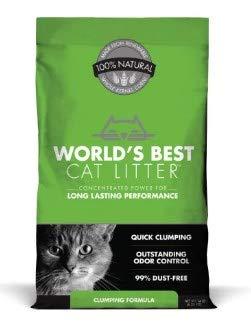 World's Best Cat Litter Pack of 3 WB00104 Natural Cat Litter Clumping Formula, 14 lb, Bag