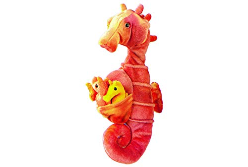 Wild Republic Seahorse Plush, Stuffed Animal, Plush Toy, Gifts for Kids, w/ babies 11.5 inches
