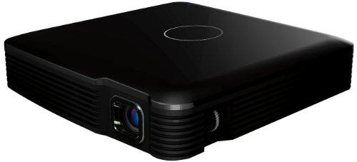 Odys Picto mini DLP-Projektor mit Lautsprecher und Li-Polymer Akku (WVGA, Kontrast 1000:1, 854 x 480 Pixel, 80 ANSI Lumen, HDMI) schwarz