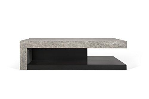Delamaison Hudson Table, béton mélaminé, Multicolore, 110 x 65 x 29 cm