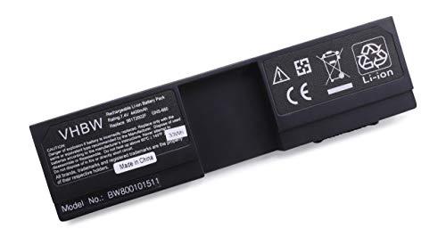 vhbw Batterie LI-ION 4400mAh 7.4V Noir Compatible pour Gigabyte M912, M912x, M 912x x, R912, R 912 remplace 92BT0030F
