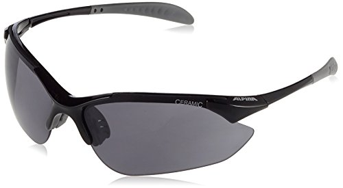 ALPINA Erwachsene Tri-Quatox Outdoorsport-Brille, Black, One Size