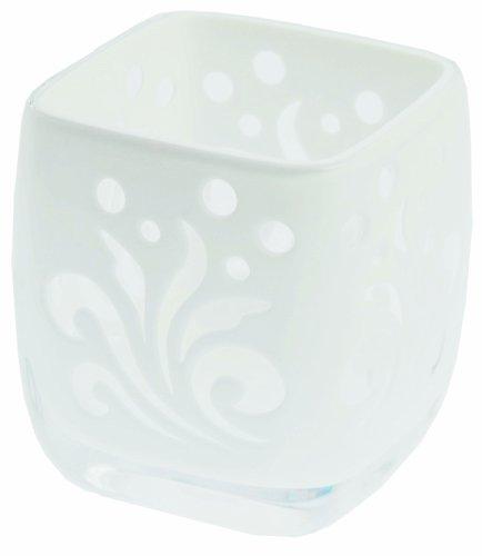 Fantasia Collection Gobelet Acrylique Fleur Blanc