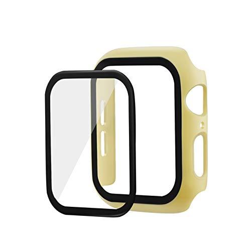 Flyuzi Cubierta Protectora de Pantalla de Cristal de 9H 9h para Reloj de Apple Watch 44mm 42mm 40mm 38m m Caja de Caja para iWatch Series 2 3 4 5 Película de Pantalla