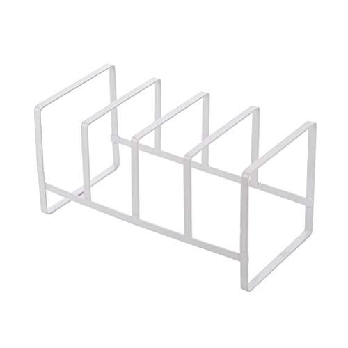 BESTONZON Cuisine en fer forgé Coupe Séchoir Séchoir Egouttoir Séchoir Plateau Vaisselle Organisateur (Blanc)