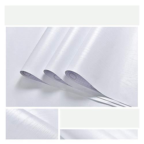HYCSP Wasserdicht Feuchtigkeitsbeständige Papiertapeten selbstklebend Weiß Dekorfolie Schranktür Tisch Altes Möbel Renovierung Wand-Aufkleber (Color : White Wood, Size : 10m x 40cm)