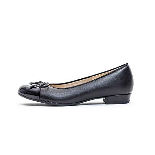 ARA Womens Ballet Flat, Black,10