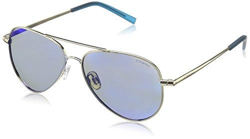 Polaroid PLD 8015/N JY J5G Gafas de sol, Dorado (Gold/Greyblmirror Pz), 52 Unisex Niños