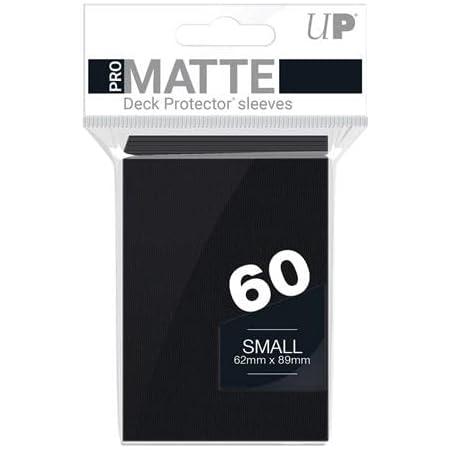 Ultra Pro 60ct Pro-Matte Black Small Deck Protectors, black, small