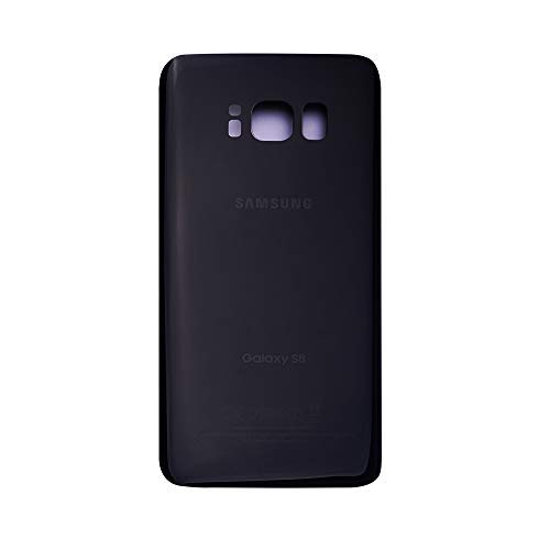 VANYUST Replacement for Back Glass Cover Battery Door Compatible for Samsung Galaxy S8 (Black)
