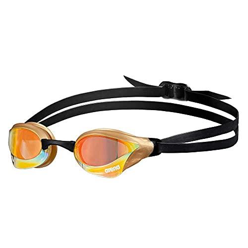 ARENA Unisex-Adult Cobra CORE Swipe Mirror Schwimmbrillen, Yellow Copper-Gold, Einheitsgröße