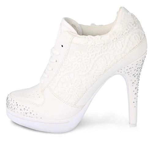 MISSY ROCKZ Yes I Rockz Sparkling White, Größe:EU 41 / UK 8 / US 10, Absatz:8.5 cm
