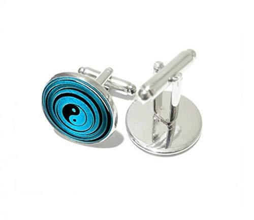 Cufflinks Manschettenknopf China klassischen Folk-Stil Retro Manschettenknopf Schmuck Silber