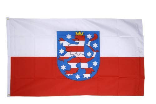 Flaggenfritze® Fahne Flagge Thüringen 60 x 90 cm Premiumqualität