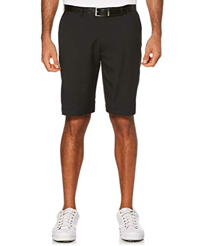 PGA TOUR Men's Expandable Flat Front Short, Caviar, 34