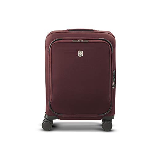 Victorinox Connex Frequent Flyer Wheeled Carry-On with USB Port, Burgundy, 21.7-inch