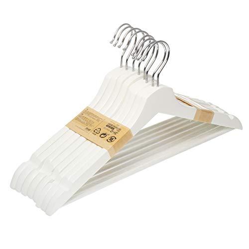 Perchas Ropa Madera Blanca Marca Ikea