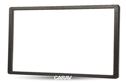 Carav 11–119 Doppel-DIN-Radio-Adapter, DVD, Armaturenbrett, umrandet, Armaturenbrett-Verkleidung, 173 x 98 mm