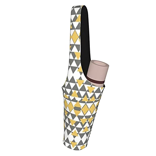 Funda de edredón para cojín de ropa de camisa de yoga de 89 cm x 34 cm de tamaño mediano, correa de esterilla de yoga, reversible para llevar bolso