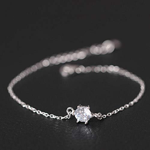 LLXXYY Armband voor vrouwen Vintage sterling zilver 925, dunne ketting met zirkonia stenen extender armbanden charme sieraden personaliseren voor vrouwen mannen baby meisje