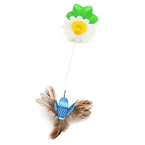 Vi.yo, gioco interattivo per gatti, divertente giocattolo con uccellino ruotante, colore casuale, batterie non incluse
