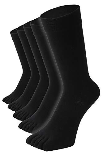 【 5本指ソックス 】 日本製 20時間履いても臭くならない 超防臭 バリア 抗菌 高通気性 吸汗 メンズ ビジネスソックス 5足セット 25-28 cm 黒 AUTHENTIC