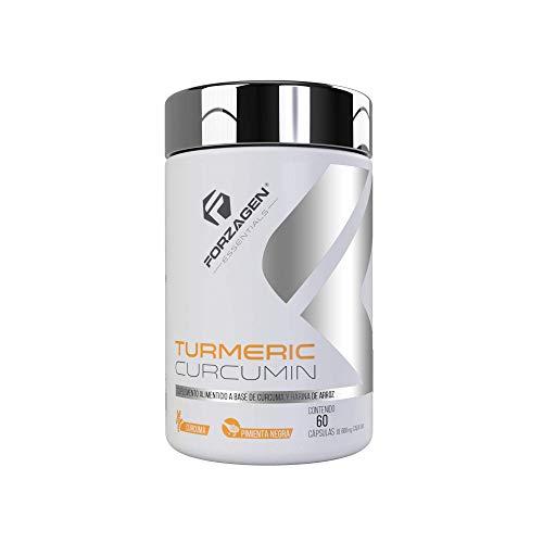 Forzagen Essentials Turmeric Curcumin - 60 Capsulas | Curcuma Organica | Pimienta Negra | Sin Gluten | Alivio Efectivo del Dolor y Soporte Articular | Ayuda El Sistema Digestivo | Suplemento Natural
